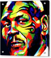 Mike Tyson Abstract Acrylic Print