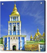 Mikhailovsky Golden-roof Cathedral Acrylic Print