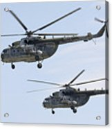 Mil Mi-17 Helicopters Of The Czech Air Acrylic Print