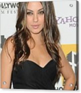 Mila Kunis At Arrivals For 14th Annual Acrylic Print