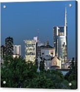 Milan Skyline By Night, Italy Acrylic Print