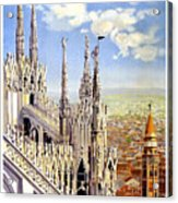 Milan Travel Print Acrylic Print