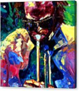 Miles And Yellow Acrylic Print by Debra Hurd