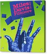 Miles At The Fillmore Acrylic Print