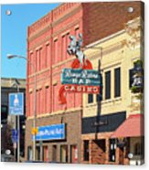 Miles City, Montana - Downtown Casino 2 Acrylic Print