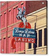 Miles City, Montana - Downtown Casino Acrylic Print