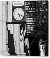 Miles City, Montana - Downtown Clock Bw Acrylic Print