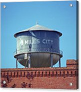 Miles City, Montana - Water Tower Acrylic Print
