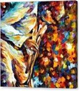 Miles Davis - Gold Trumpet Acrylic Print
