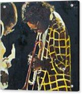 Miles Davis And A Guitar Player  Acrylic Print