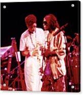 Miles Davis Image 10 And Bob Berg 1985 Your Under Arrest Tour Acrylic Print