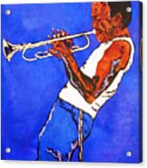 Miles Davis-miles And Miles Away Acrylic Print by Bill Manson