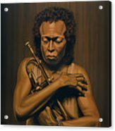 Miles Davis Painting Acrylic Print