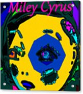 Miley Cyrus At Five With An Attitude Print Acrylic Print