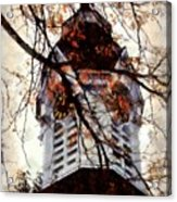 Milford Clock Tower Vintage Acrylic Print by Janine Riley