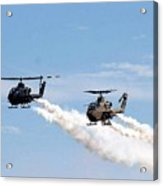 Military Helicopters Acrylic Print