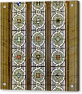 Military Insignia On Stained Glass - Meuse Argonne - East Acrylic Print