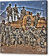 Military Police Pose For This Hdr Image Acrylic Print