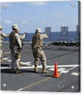 Military Policemen Train Acrylic Print by Stocktrek Images