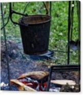 Military Revolutionary War Campfire Vertical Acrylic Print