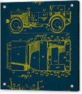 Military Vehicle Body Patent Drawing 1a Acrylic Print
