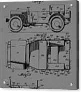 Military Vehicle Body Patent Drawing 1d Acrylic Print