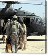 Military Working Dog Handlers Board Acrylic Print