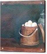 Milk And Eggs Acrylic Print
