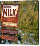 Milk Sign Acrylic Print