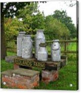 Milkcans Wiltshire England Acrylic Print