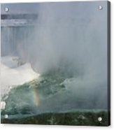 Milky Mist And Double Rainbows - Glorious Niagara Falls Acrylic Print