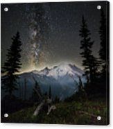 Milky Mountain Acrylic Print