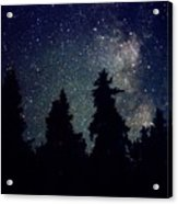 Milky Way Above Northern Forest 22 Acrylic Print