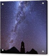 Milky Way Above Ruined Church Tower Acrylic Print