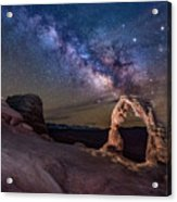 Milky Way And Delicate Arch Acrylic Print