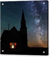 Milky Way And Old Church Acrylic Print