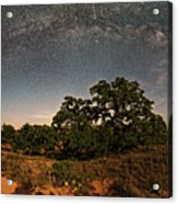 Milky Way Arch Over Enchanted Rock State Natural Area - Fredericksburg Texas Hill Country Acrylic Print
