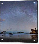 Milky Way At Cathedral Cove Acrylic Print