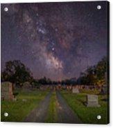 Milky Way Cemetery Acrylic Print