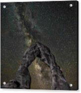 Milky Way Delicate Arch Acrylic Print