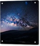 Milky Way Galaxy From Earth Acrylic Print