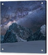 Milky Way On Italian Dolomites Acrylic Print