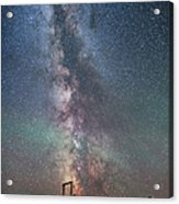 Milky Way Over An Old Ranch Corral Acrylic Print