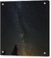 Milky Way Over Bay Of Gaspe Acrylic Print