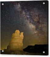 Milky Way Over Castle Rock Acrylic Print