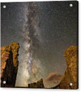 Milky Way Over Crest House Acrylic Print