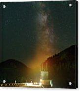 Milky Way Over Detroit Dam Acrylic Print