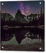Milky Way Over Lone Eagle Peak And Mirror Lake Acrylic Print