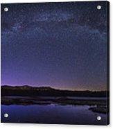 Milky Way Over Lonesome Lake Panorama Acrylic Print