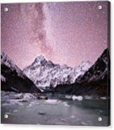 Milky Way Over Mt Cook Acrylic Print